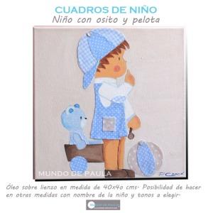 Ni o cuadros infantiles personalizados - Cuadros para ninos personalizados ...