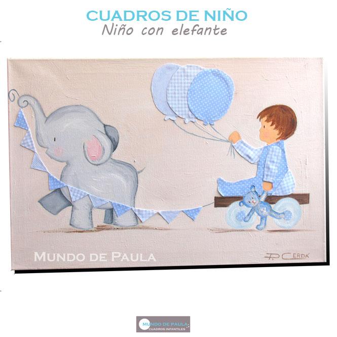 Niño con elefante